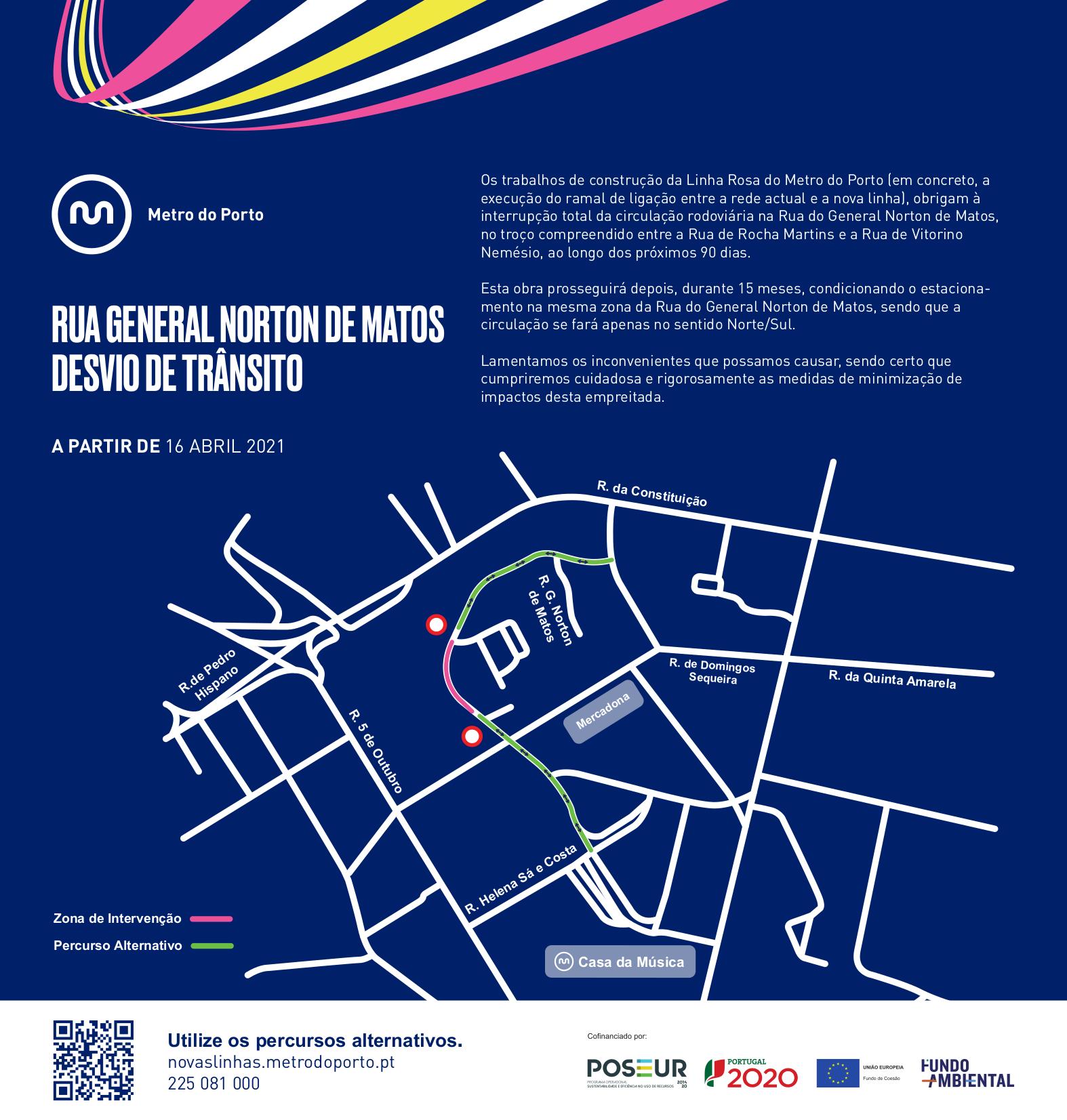 Desvio de Trânsito | Rua Norton de Matos